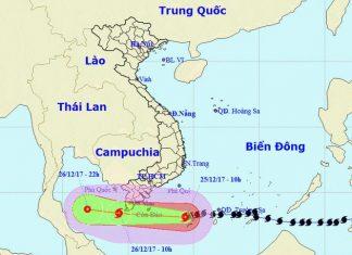 Dự kiến đường đi của bão Tembin - Nguồn: Hải quân Hoa Kỳ