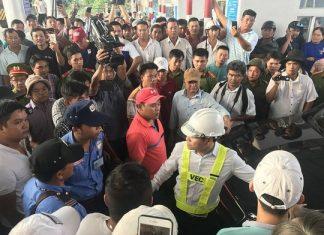 BOT Cai Lậy đã phải dừng thu phí để xử lý những bất cập theo chỉ đạo của Thủ tướng Chính phủ-Ảnh: Người Lao Động