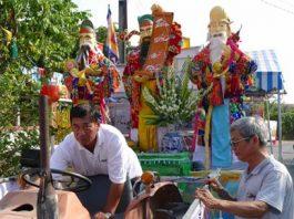 Lễ hội Làm Chay ở huyện Châu Thành (Long An). Ảnh: Báo Ninh Thuận