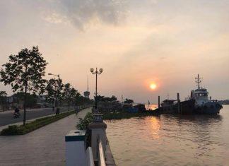 ️Chào ngày mới ️Bình minh trên mảnh đất Mỹ Tho thật đẹp Ảnh : Kim Phuong Ngo