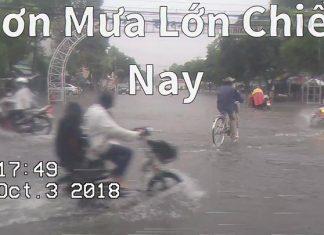 Cơn mưa lớn chiều nay ở Mỹ Tho  Tuyến đường Học Lạc - Nguyễn Văn Nguyễn thất thủ