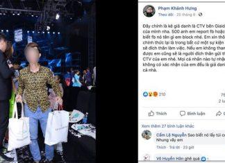 Thanh niên bị tố đích danh trà trộn vào các sự kiện của showbiz để chôm túi, điện thoại…