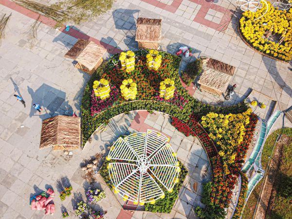 Bộ ảnh Đường hoa Hùng Vương Mỹ Tho, Tiền Giang 2020 đặc sắc từ Flycam