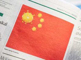 """Tranh biếm họa được xuất bản dưới tên """"Coronavirus"""" (Virus corona) trên nhật báo Jyllands-Posten số ra ngày 27-1 - Ảnh: REUTERS"""