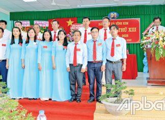 Ban Chấp hành Đảng bộ xã Vĩnh Kim nhiệm kỳ 2020 - 2025 quyết tâm hoàn thành các chỉ tiêu đại hội đề ra.