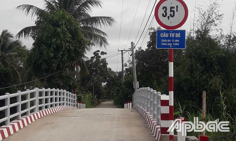Cầu giao thông được đầu tư trong vùng Dự án VnSAT.