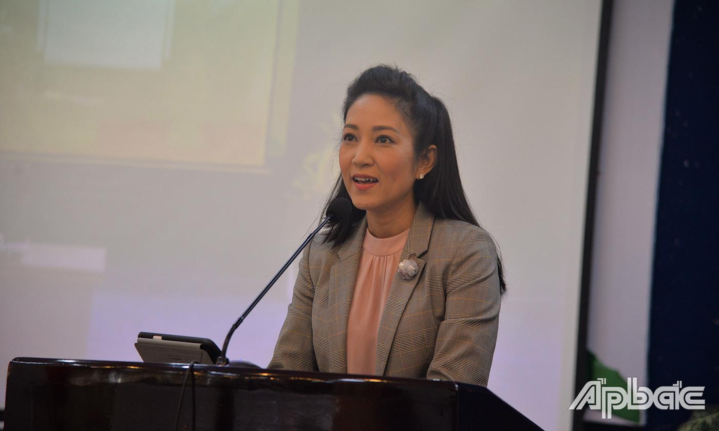 Lãnh đạo Sở VHTTDL TP. Hồ Chí Minh phát biểu tại hội nghị