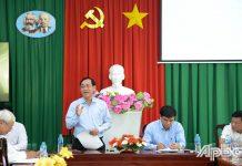 Đồng chí Nguyễn Văn Vĩnh phát biểu tại buổi làm việc.