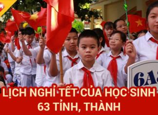 Lịch nghỉ Tết năm 2021 của học sinh 63 tỉnh, thành