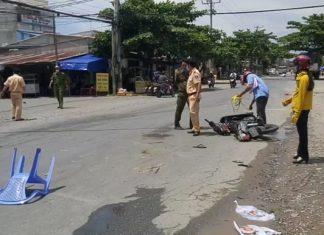 Tiền Giang: Tránh xe máy cùng chiều, một phụ nữ ra đi dưới gầm xe tải