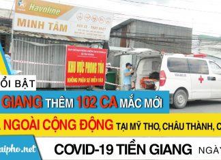 Bản tin Covid-19 Tiền Giang mới nhất ngày 19-9-2021 phát hiện 102 ca F0 mới trong ngày
