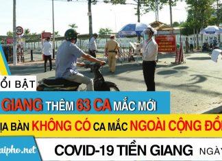 Bản tin Covid-19 Tiền Giang mới nhất ngày 26-9-2021 phát hiện 63 ca F0 mới trong ngày