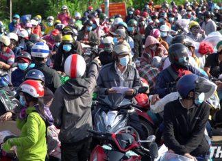 Có khoảng 87.000 người ở các tỉnh miền Tây về quê qua cửa ngõ tỉnh Tiền Giang